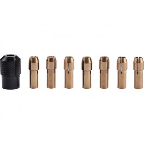 Сет футери за линеарна брусилка, 8пар, ∅1-1,6-2-2,3-3-2x3,2mm,  навој M8x0,75