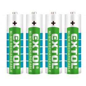 Батерии на полнење, сет 4пар, AA (HR6), 1,2V, 2400mAh, NiMh