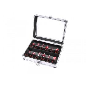 Фрези за обработка на дрво со SK парчиња, сет 12пар, носач 8mm, во метален куфер
