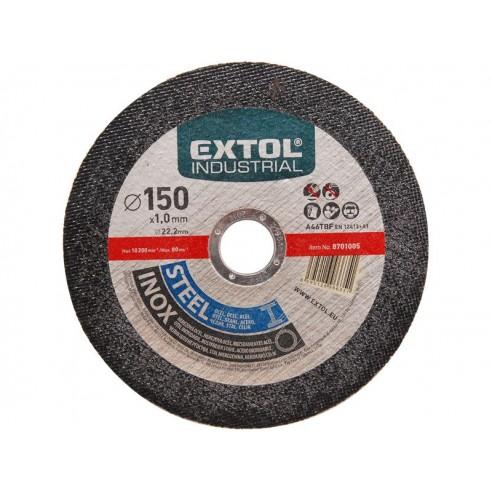 Диск за сечење челик и инокс, 125x1,0x22,2mm, EXTOL INDUSTRIAL