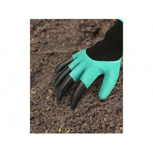 """Градинарски полиестерски ракавици со латекс и канџи на десната рака, големина 9 """", PES со латекс"""