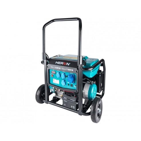 Генератор на бензин со подвозје,моновазен со елек. старт, 17HP/8,2kW, HERON