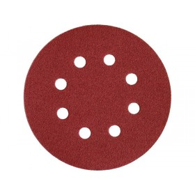 Брусна хартија, кружна ERSTA,  пакување 50 пар. ∅125mm, P60, со лепенка, 8 отвори,