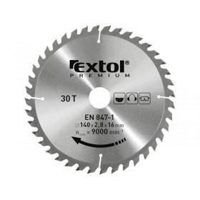 Лист за циркуларна пила со SK плочка, 210x2,2x30mm, 60заби, ширина на SK плочка 3,2mm, EXTOL PREMIUM